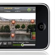 Voyage et réalité augmentée sur iPhone