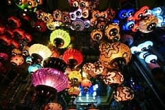 Lamps for sale at the grand bazaar